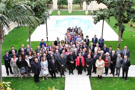 Convention participants at the welcome reception hosted by President Coleiro-Preca